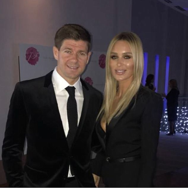 Steven Gerrard wrote: 'Happy Valentine's Day babe love you so much,' to his wife Alex