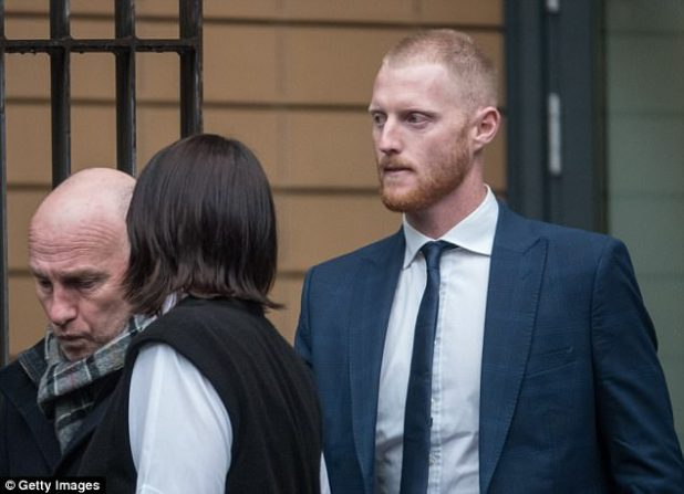 Ben Stokes pleaded not guilty to affray at Bristol Magistrate's Court on Tuesday