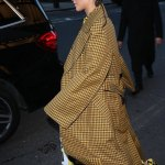 Zendaya Attends Burberry London Fashion Week in Cornrows