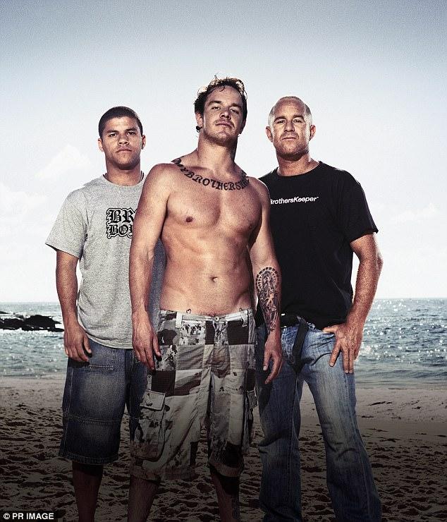 Film directors Macario De Souza (left) and Sunny Abberton (right) with Koby Abberton (centre)