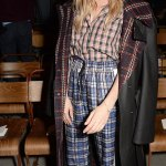 Sienna Miller in Burberry at London Fashion Week