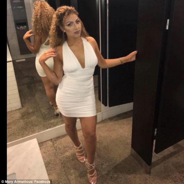 Mr Barsoum, from Cranbourne in Melbourne's south-east, said he was forced to turn his attention away from his new fiancé Mary (pictured) to save innocent passengers