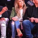 J'lo and A-Rod at the NBA All-Star game in Los Angeles