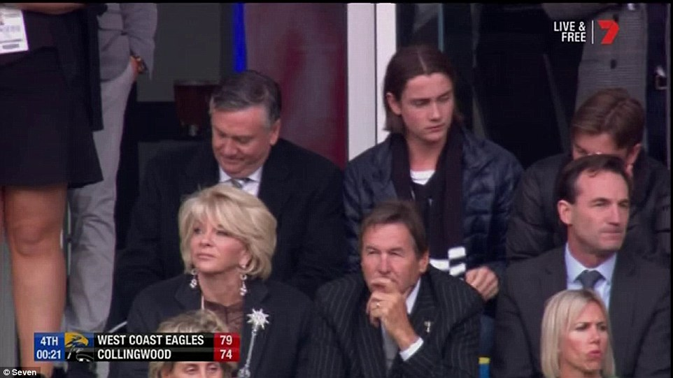 Collingwood president Eddie Maguire looks crushed after his team lost in the final minute of the Grand Final