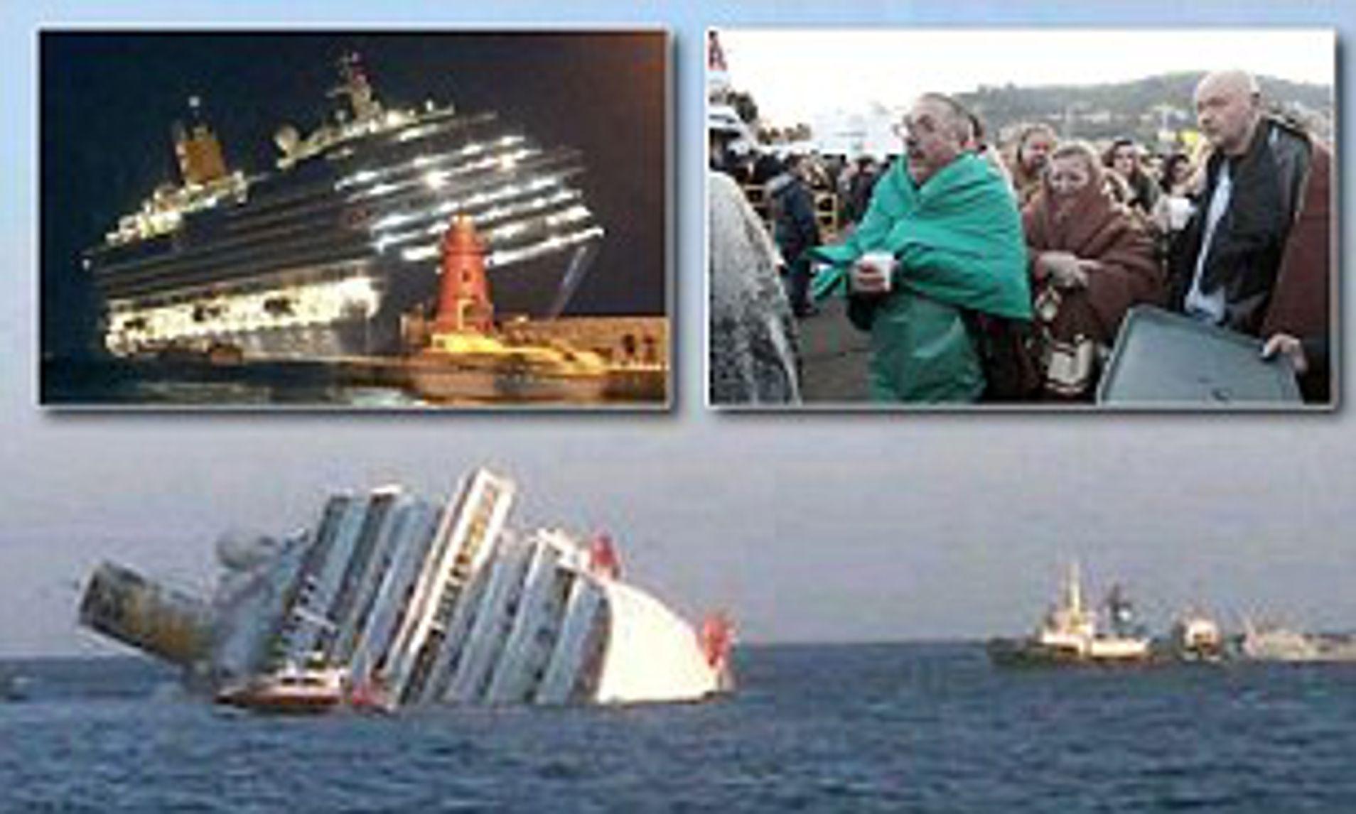 cruise ship sinking off coast of italy
