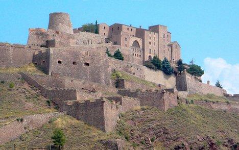 The Parador de Cardona, 14th-century castle in a 9th-century precinct and now a hotel!