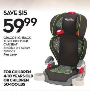chair covers giant tiger hanging under 100 graco highback turbobooster car seat redflagdeals com 59 99 15 00 off