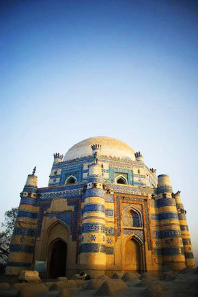 The Shrine of Bibi Jiwani at Uch Sharif. -Photo by Humayun M | 18% grey