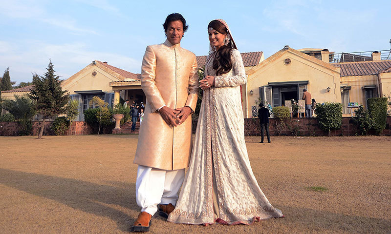 Imran and Reham tie the knot at Banigala. — AFP/File