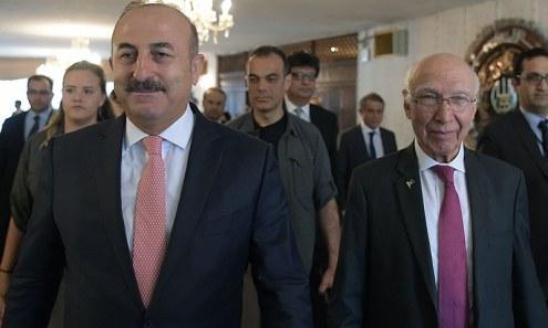 اسلام آباد: ترک وزیر خارجہ نے کہا کہ ترکی این ایس جی رکنیت کیلئے پاکستان کی حمایت کرتا ہے—فوٹو/ اے ایف پی
