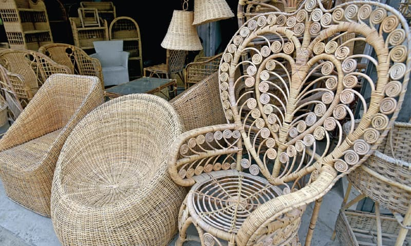 swing chair name glider with ottoman sale keeping the art of cane furniture alive - newspaper dawn.com