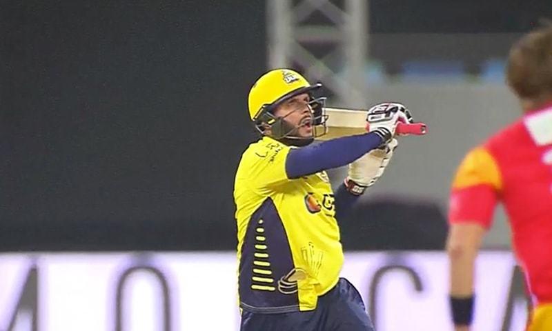 Afridi plays a shot. -DawnNews.