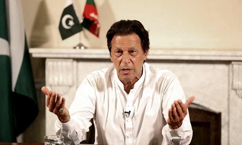 Imran Khan delivers an address to the nation on July 26. ─ AP/File