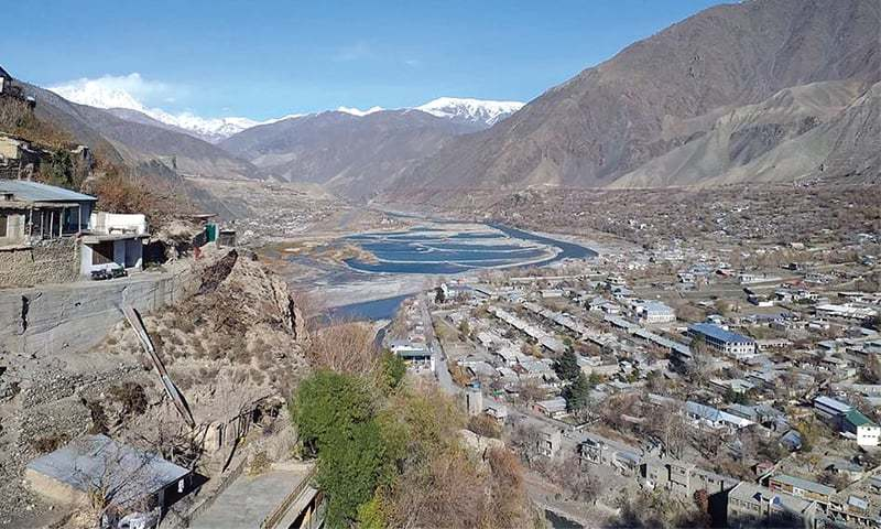 A bird's eye view of picturesque Chitral valley. — Dawn