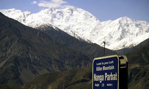 Leaving a son with Nanga Parbat