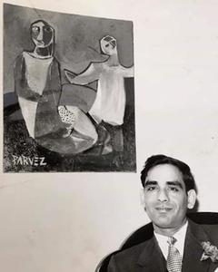 .احمد پرویز نوجوانی کے دور میں