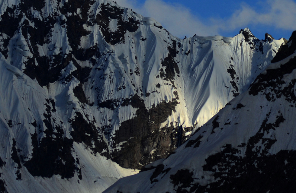 View of sunrise from Upper Shani camp, Naltar Pass, Gilgit Baltistan. Photo by Mobeen Ansari