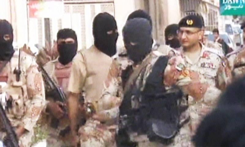 Rangers spokesperson Col Tahir said the raid lasted for two hours. -DawnNews screengrab