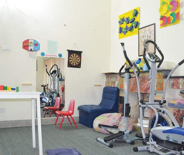 The Occupational Therapy Room At Autism Resource Centre Pindi Where Autistic Children Are Engaged