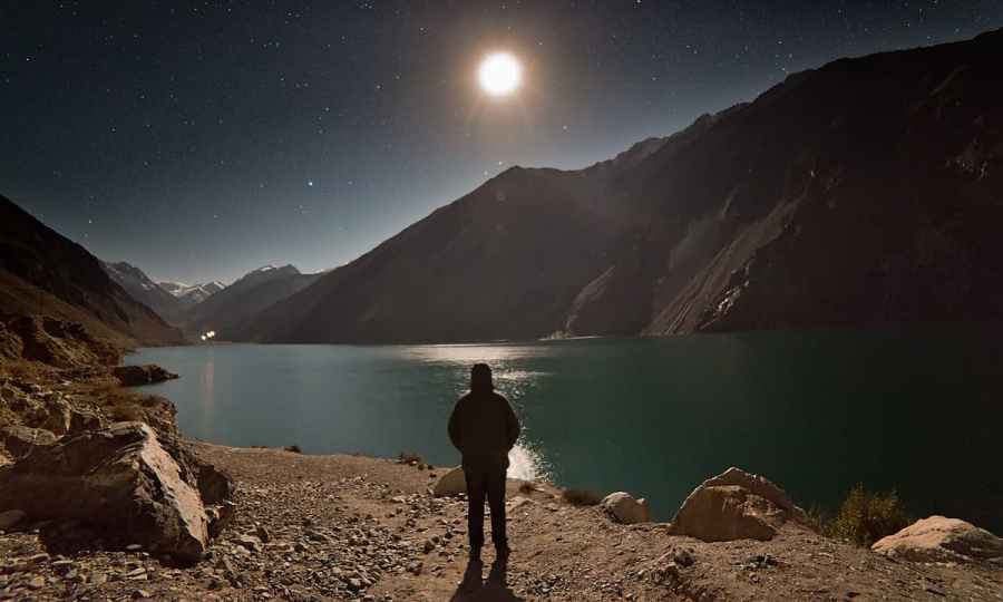 Sadpara lake in full moon. — S.M.Bukhari
