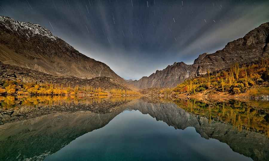 Upper Kachura lake at night.— S.M.Bukhari
