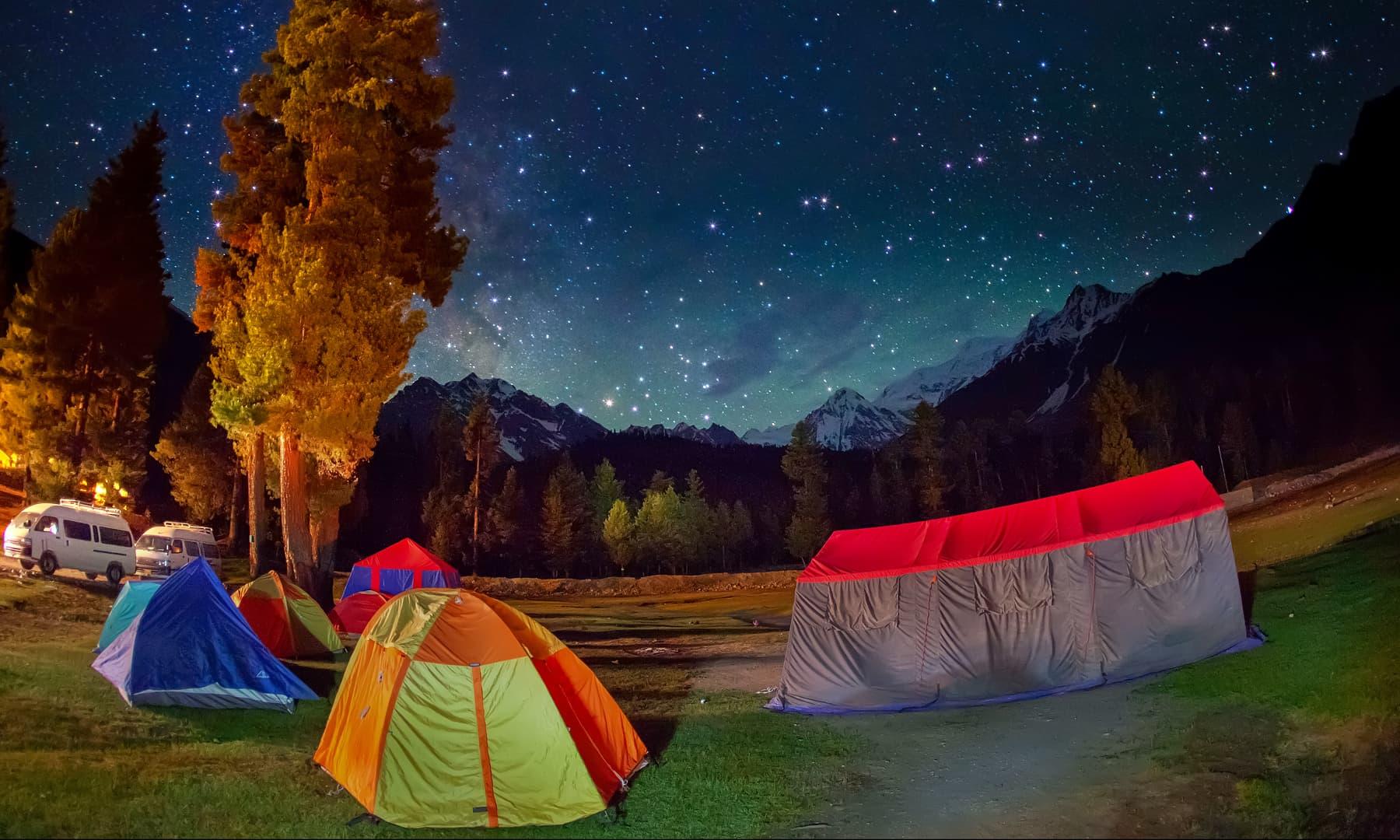 Campsite in Rama. — Syed Mehdi Bukhari