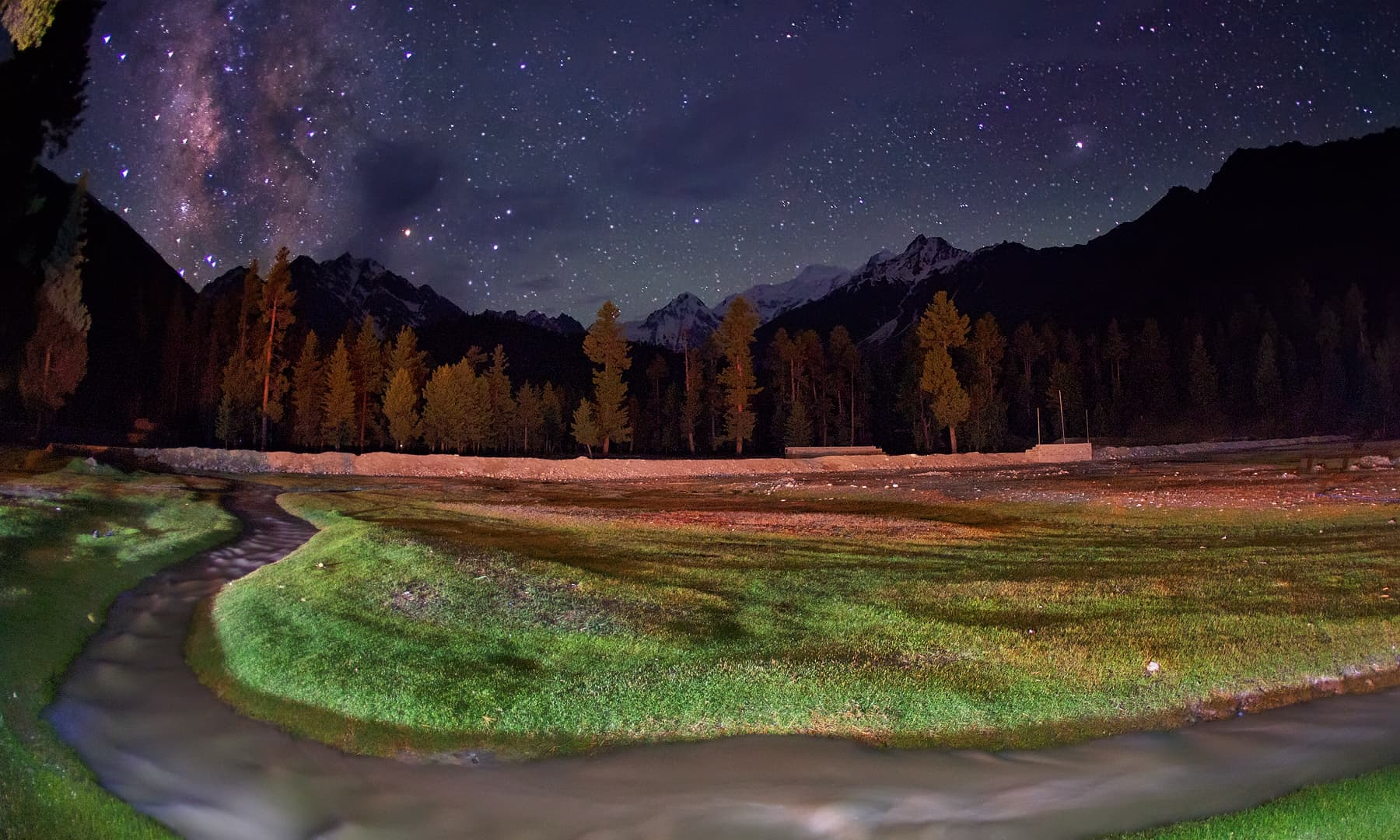 Night in Rama Meadows. — Syed Mehdi Bukhari