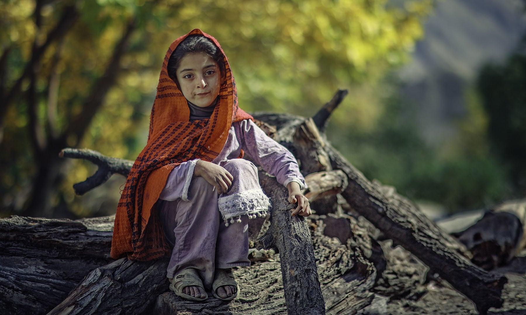 A child in Nagar.