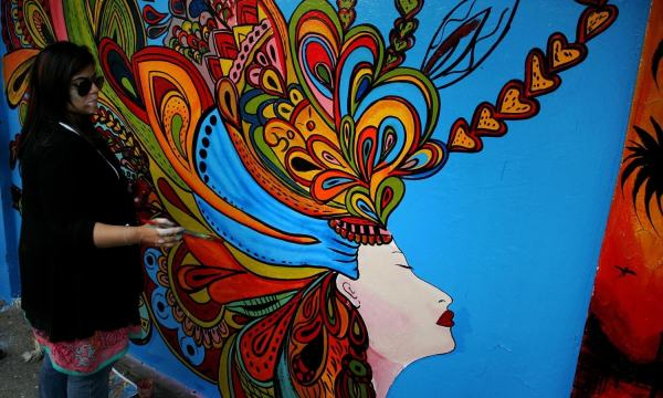 Artists Participate In Street Art Competition Lahore