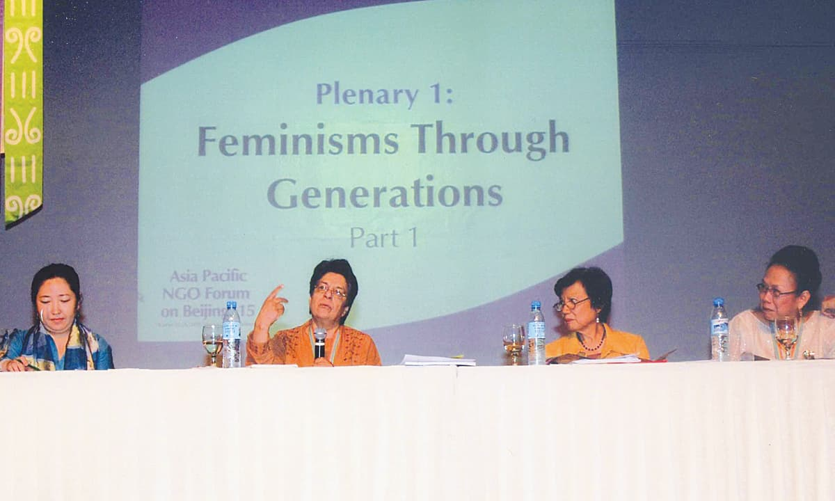 Nighat Said Khan speaks at the Asia Pacfic NGO Forum in 2009