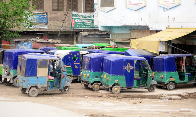 There are at least 50,000 auto-rickshaws in Peshawar alone. —Photo by the author