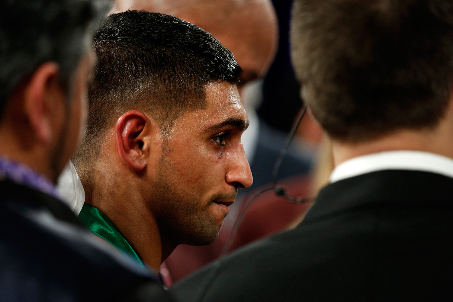 Amir Khan after losing the fight. — Reuters