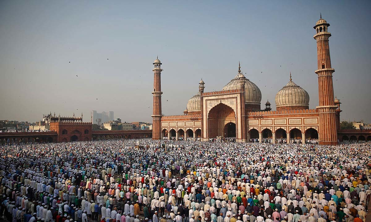 Muslims offer Eid prayers at the Jama Masjid, Delhi   Reuters