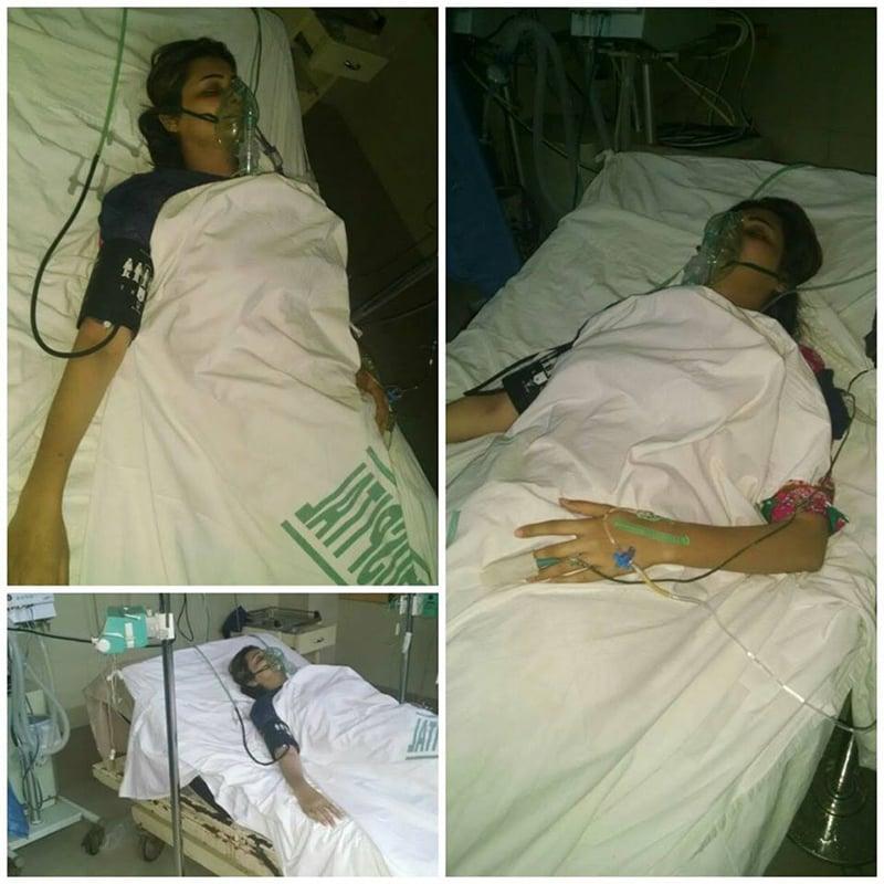 ثناء فیصل کی حالت خطرے سے باہر بتائی گئی— فوٹو/ بشکریہ پروگرام 'خفیہ' فیس بک پیج