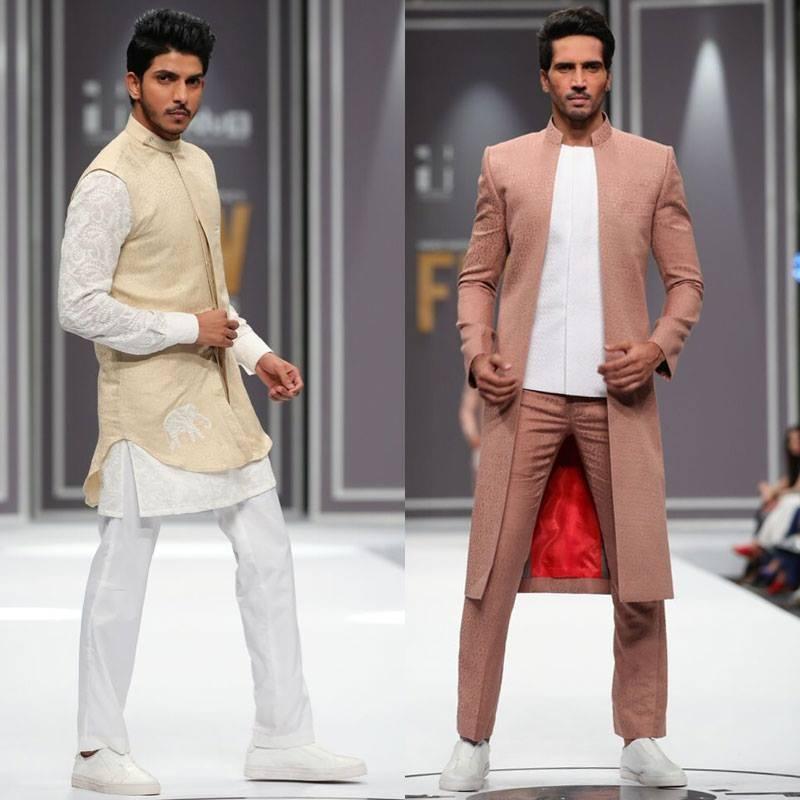 Deepak & Fahad sent down some funky designs for men