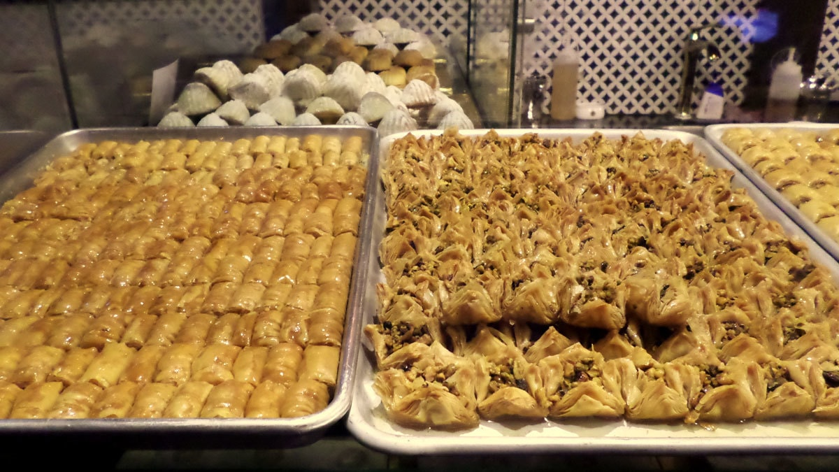Paramount Fine Foods' bakery has many more varieties of the Baklava. Photo by author.