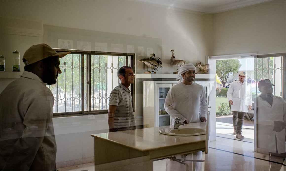 Members of IFHC receive a tour of a houbara rehabilitation centre in Rahim Yar Khan | Mohammad Ali, White Star