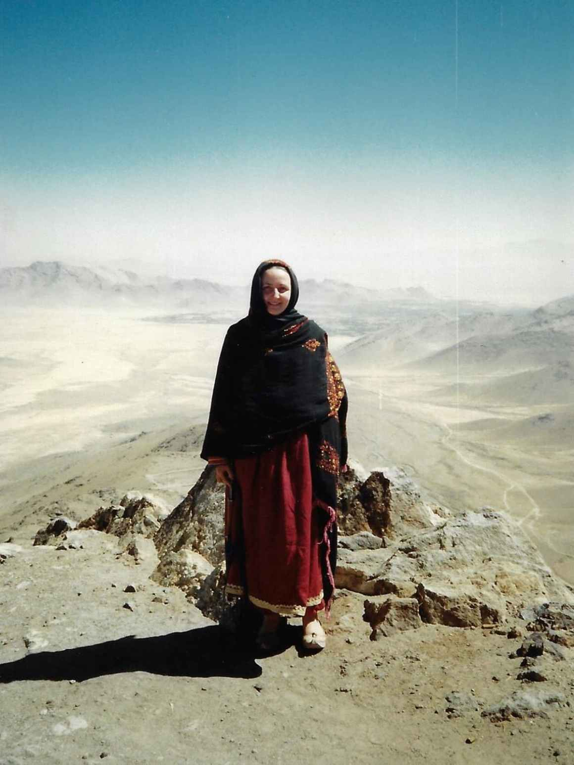 Mariam Abou Zahab in southern Afghanistan during the mid-1980s. Credit: Laurent Gayer