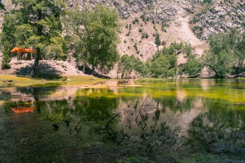 Satrangi Lake in all its multi-hued glory