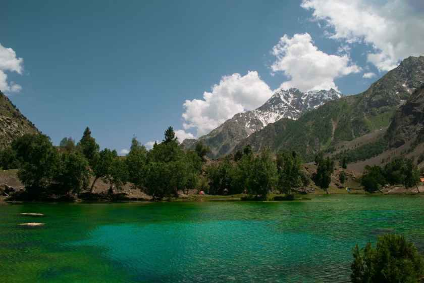 Another view of the Satrangi Lake