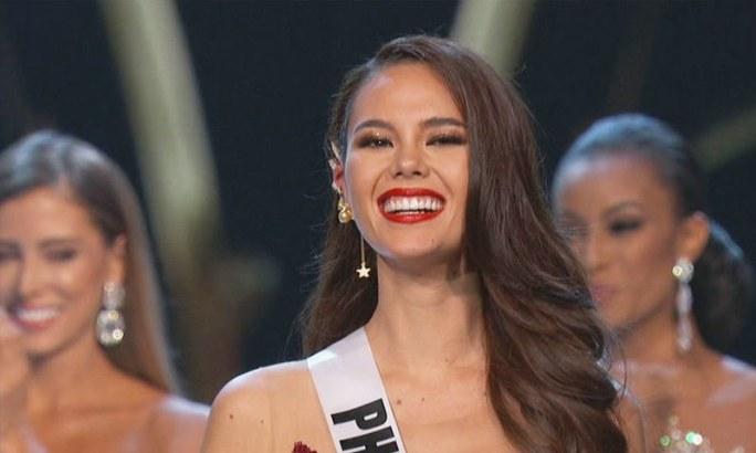 کیتریونا گرے 2017 میں مس فلپائن منتخب ہوئی تھیں—فوٹو: اے بی ایس سی بی این
