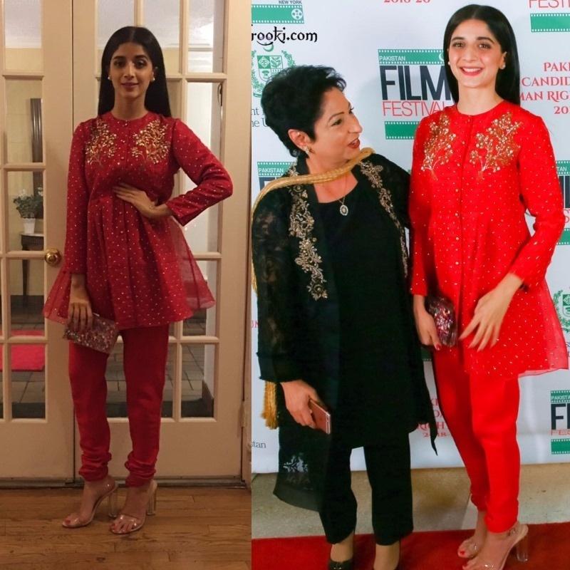 Mawra with Maleeha Lodhi at the film fest celebrating Pakistani cinema in NY