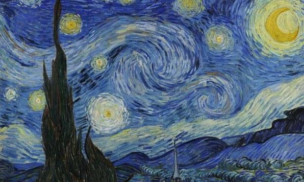 ستاروں بھری رات ان کی سب سے معتبر پینٹنگ ہے—فوٹو: وین خوخ گیلری