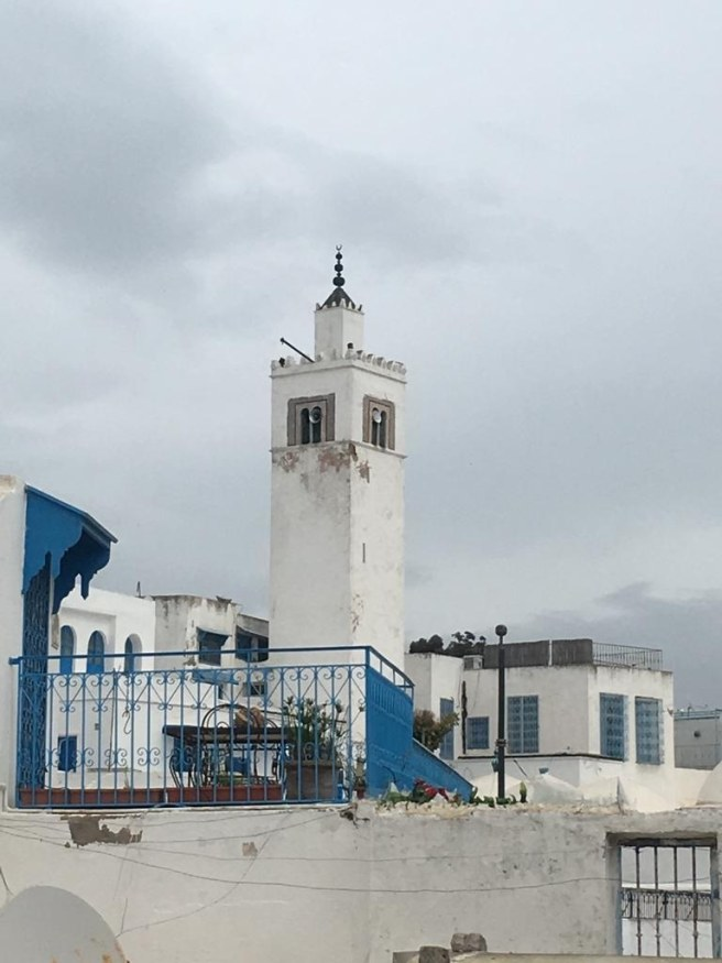 A view of the minaret next to the zawiya constructed in honour of the 13th century Sufi saint. — All photos by the author