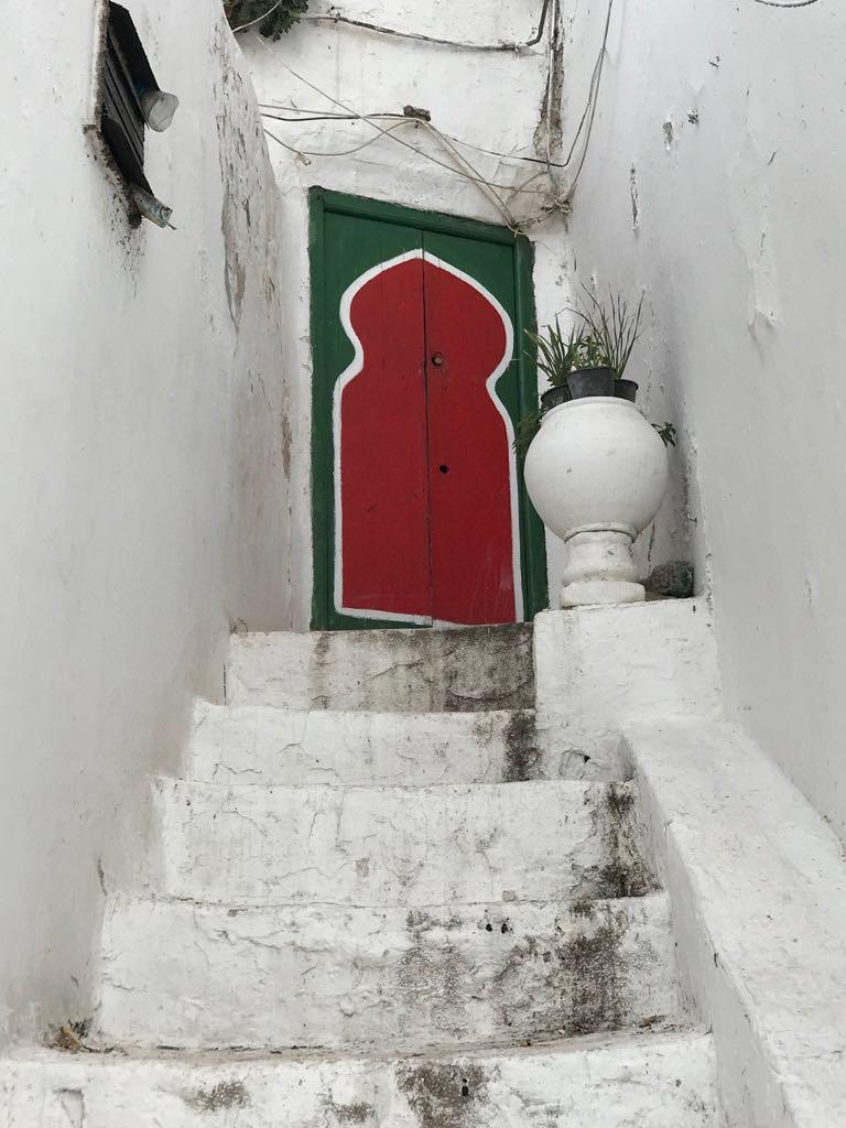 A small door close to the saint's zawiya, located on the main street.
