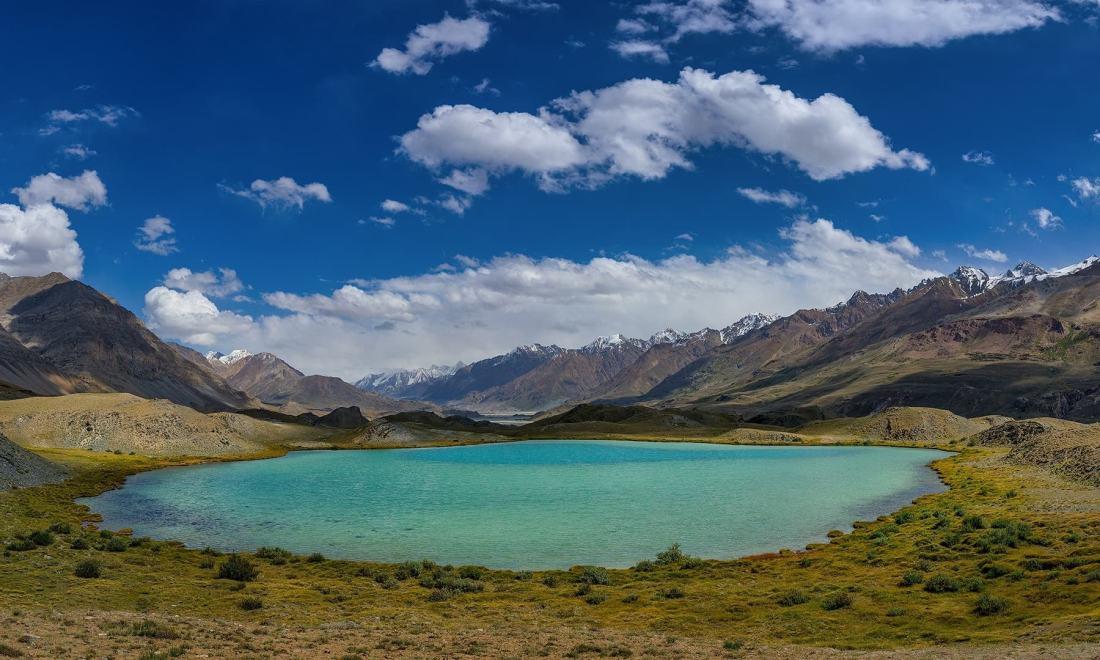 A lake near Lashkargaz. — *Photo by author*