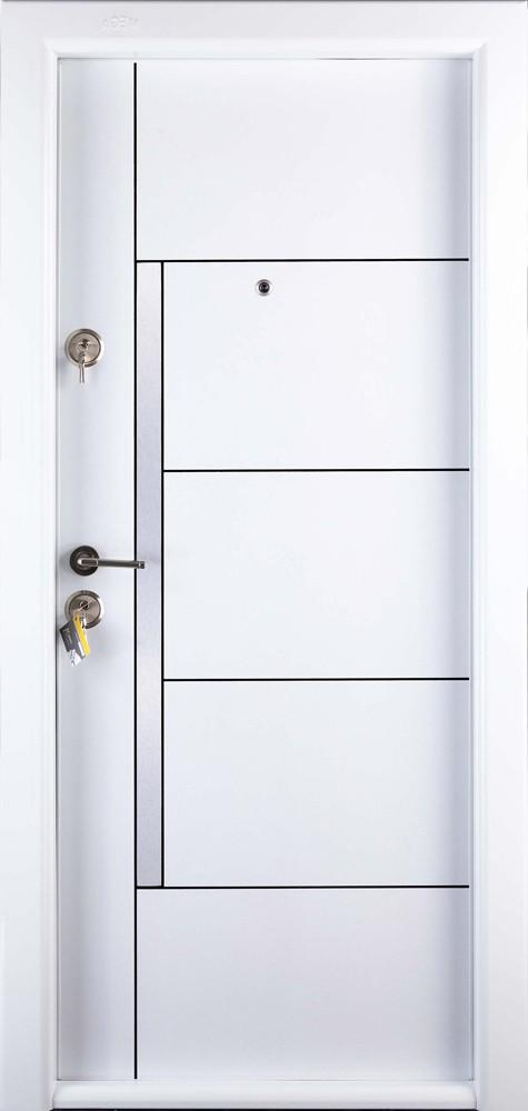 Usa Interior Metalica Prestige 1 Lux 1017 Dreapta Alb 200 X 88 Cm