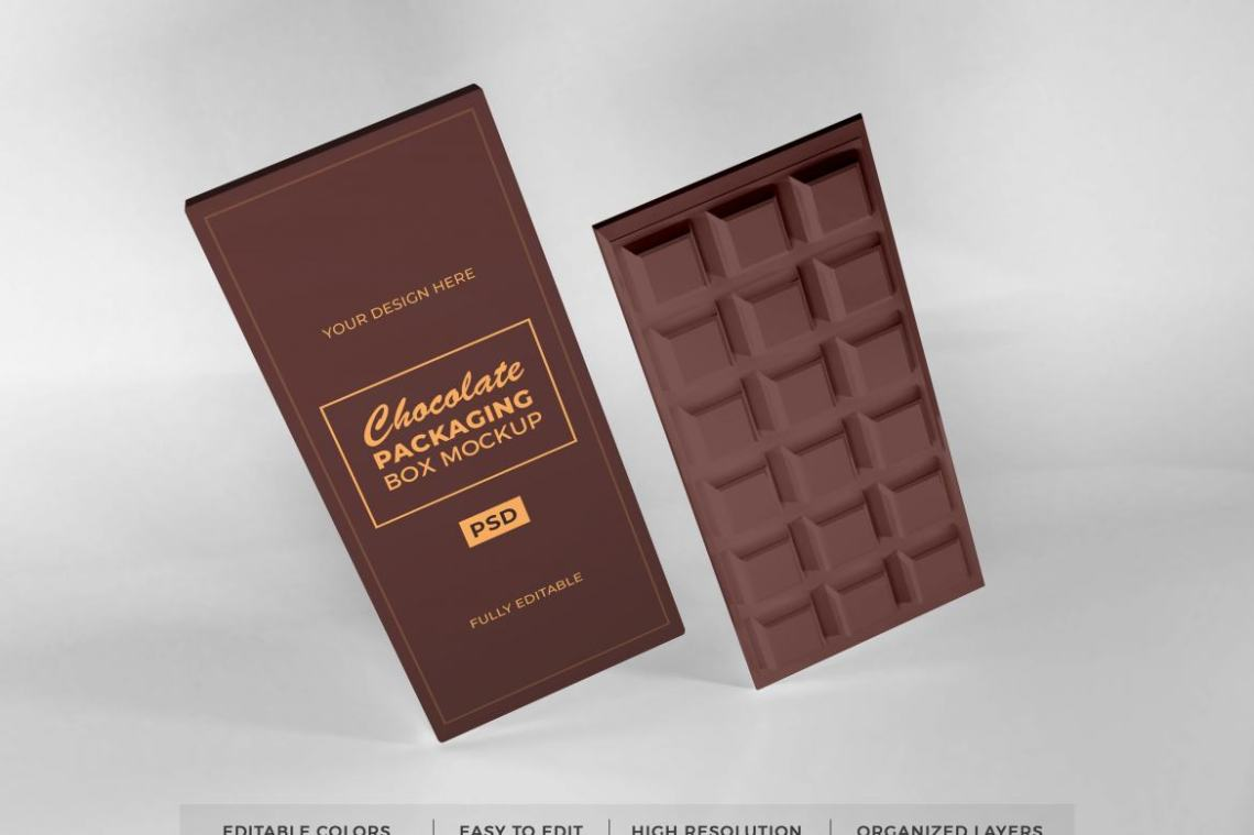Download Realistic Chocolate Box Mockup Template | Deeezy