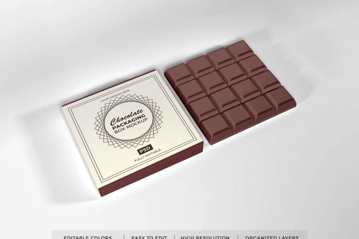 Download Free Chocolate Box Mockup Template | Deeezy