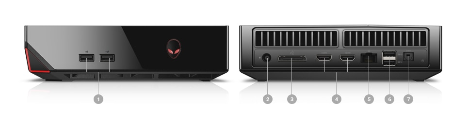 Alienware Alpha R2 Ports and slots